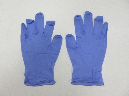 2.2mil (2.7g-3.1g) Powder Free Nitrile Examination Gloves (Extra Small/6, Purple Blue)
